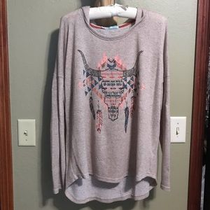 Maurices Lightweight Sweater Hoodie with Steer